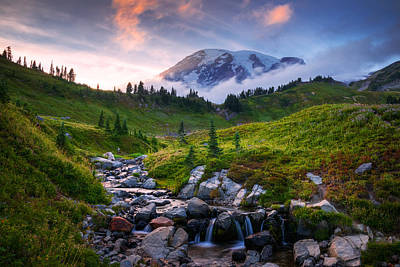 Meadow Photograph - Edith Creek Sunset by Dan Mihai