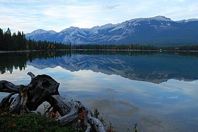 Photograph - Edith Lake Reflections by Larry Ricker