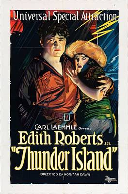 Thunder Drawing - Edith Roberts In Thunder Island 1921 by Mountain Dreams