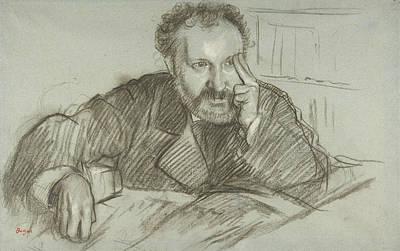 Drawing - Edmond Duranty by Edgar Degas