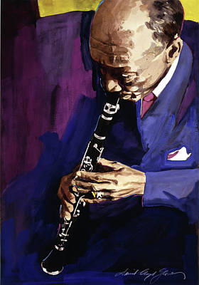 Painting - Edmond Hall Jazz Clarinet by David Lloyd Glover