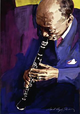Edmond Hall Jazz Clarinet Print by David Lloyd Glover