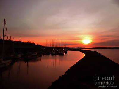 Photograph - Edmonds Washington Boat Marina At Sunset by Eddie Eastwood