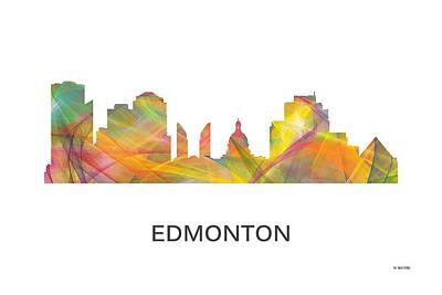 Digital Art - Edmonton Alta. Skyline by Marlene Watson