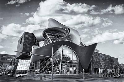 Edmonton Art Gallery Black And White Print by Ian MacDonald
