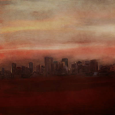Digital Art - Edmonton At Sunset by Eduardo Tavares