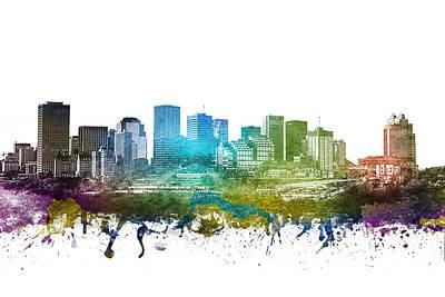 Edmonton Cityscape 01 Art Print