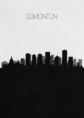 Digital Art - Edmonton Cityscape Art by Inspirowl Design