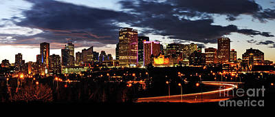 Photograph - Edmonton Downtown Skyline 2017 by Terry Elniski