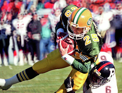 Photograph - Edmonton Eskimos Football - Tom Richards 1 - 1989 by Terry Elniski