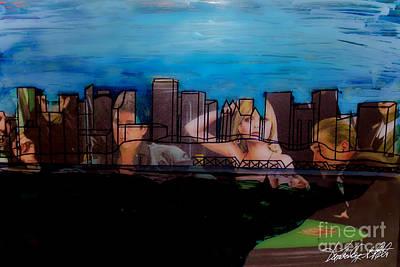 Kim Digital Art - Edmonton Landscape 1 by Kim Peto