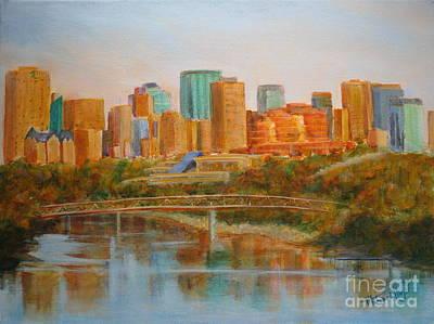 Edmonton Reflections Original by Mohamed Hirji