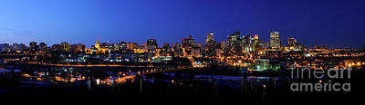 Edmonton Skyline Panorama 4 Art Print by Terry Elniski