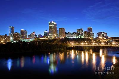 Edmonton Skyline Art Print