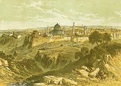 Photograph - Edmund Evans Jerusalem Late 19th Century by Munir Alawi