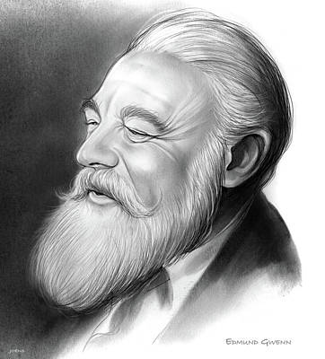Celebrities Royalty-Free and Rights-Managed Images - Edmund Gwenn by Greg Joens