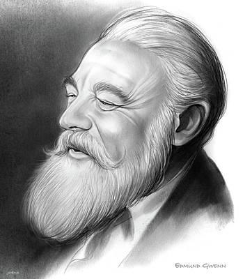 Kringle Drawing - Edmund Gwenn by Greg Joens