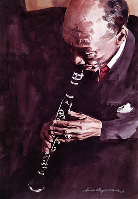 Musicians Paintings - Edmund Hall by David Lloyd Glover
