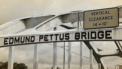 Rosa Parks Photograph - Edmund Pettus Bridge - 3 by Stephen Stookey