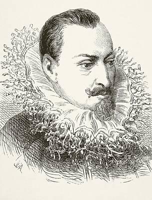 Faeries Drawing - Edmund Spenser Circa 1552 To 1599 by Vintage Design Pics