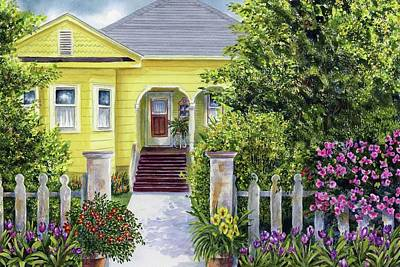 Luis Painting - Edna House by Karen Wright