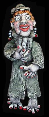 Ceramic Art - Edna by Judy  Hensley