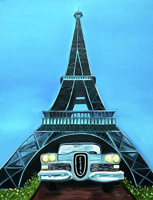 Painting - Edsel - Eiffel by Dean Glorso