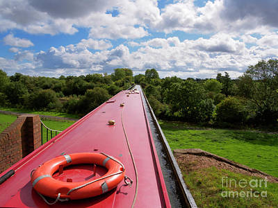 Photograph - Edstone Aqueduct On The Stratford On Avon Canal by Louise Heusinkveld