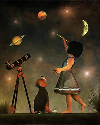 Educating Astronomy Art Print