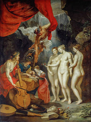 Cello Painting - Education Of The Princess by Peter Paul Rubens