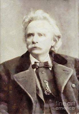 Edvard Grieg, Composer By Sarah Kirk Art Print by Sarah Kirk