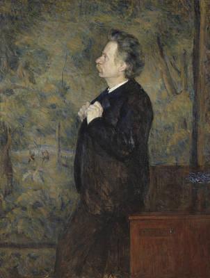 Painting - Edvard Grieg, Composer by Erik Werenskiold