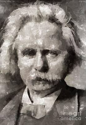 Edvard Grieg, Composer Art Print by Mary Bassett