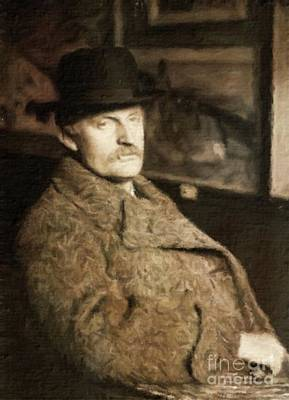 Edvard Munch, Artist By Mary Bassett Art Print