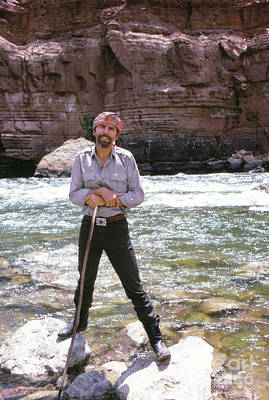 1960s Portraits Photograph - Edward Abbey, Author Of Desert Solitaire, Shown Here By The Colo by The Harrington Collection