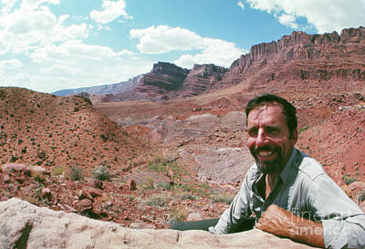 1960s Portraits Photograph - Edward Abbey In The Desert, 1969 by The Harrington Collection