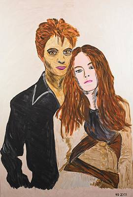 Painting - Edward And Bella by Valerie Ornstein