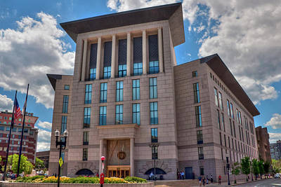 Edward Brooke Courthouse - Boston Print by Joann Vitali