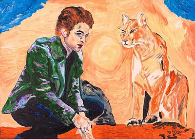 Painting - Edward Cullen And His Diet by Valerie Ornstein