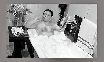 Edward G. Robinson Wall Art - Photograph - Edward G. Robinson As Mobster Johnny Rocco Taking A Bath Key Largo 1948-2016 by David Lee Guss