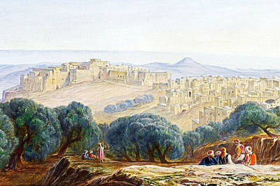 Painting - Edward Lear Bethlehem Painting by Munir Alawi