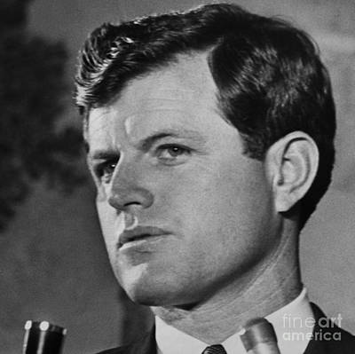 Ted Kennedy Photograph - Edward M. Ted Kennedy, United States Senator Of Massachusetts. 1967 by Terence McCarten