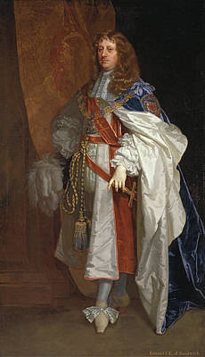 Royal Painting - Edward Montagu, 1st Earl Of Sandwich by Peter Lely