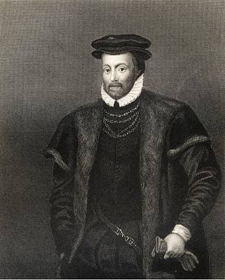 Lord Drawing - Edward North 1496-1564. First Lord by Vintage Design Pics
