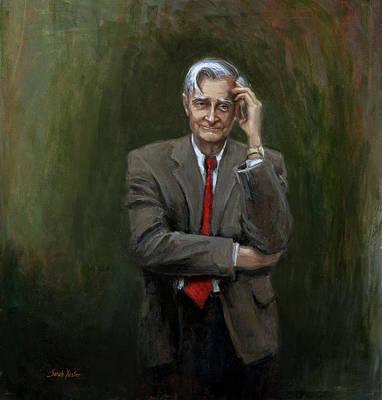 Harvard Painting - Edward O. Wilson by Sarah Yuster