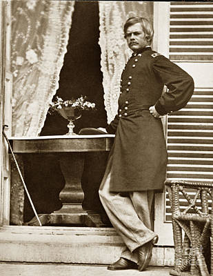 Photograph - Maj. Gen. Edward O. C. Ord Usa 1818-1883 by California Views Archives Mr Pat Hathaway Archives