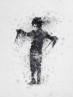 Johnny Depp Digital Art - Edward Scissorhands 01 by Aged Pixel