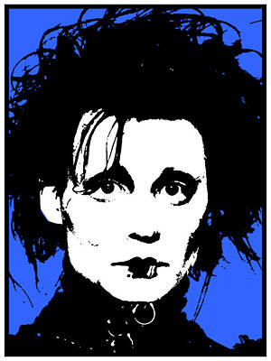 Johnny Depp Mixed Media - Edward Scissorhands-2 by Otis Porritt