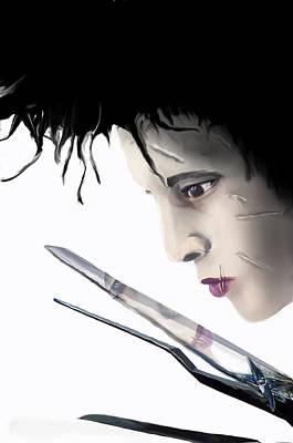 Edward Scissorhands Painting - Edward Scissorhands by Creative Art Attic