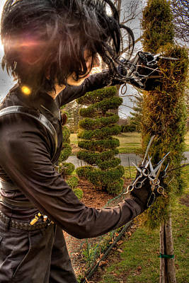 Edward Scissor Hands Photograph - Edward Triming by Katrina McKinnis